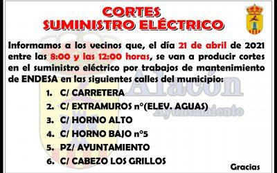 CORTES EN EL SUMINISTRO ELÉCTRICO_ 21 abril 2021