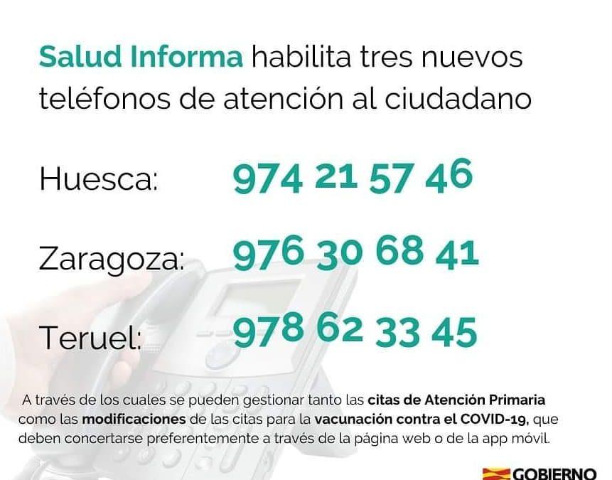 NUEVOS TELÉFONOS de ATENCIÓN AL CIUDADANO DEL SALUD