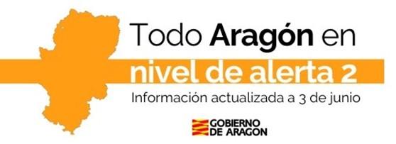 TODO ARAGÓN PASA a NIVEL de ALERTA 2