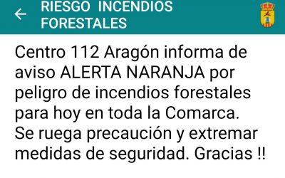 ALERTA NARANJA __ INCENDIOS FORESTALES