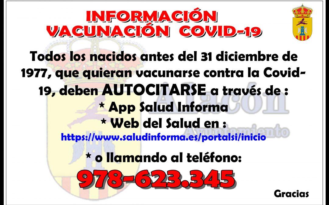 INFORMACIÓN VACUNACIÓN  COVID-19 __ nacidos antes del 31 diciembre de 1977