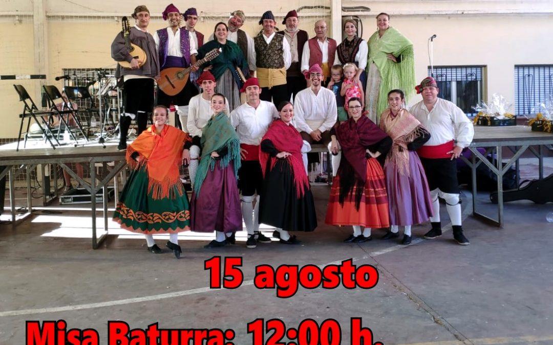 MISA BATURRA y  GRAN FESTIVAL de  JOTAS__ 15 agosto