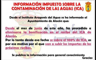 INFORMACIÓN IMPUESTO SOBRE LA CONTAMINACIÓN DE LAS AGUAS (ICA)